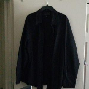 Lane Bryant black long sleeve button down shirt